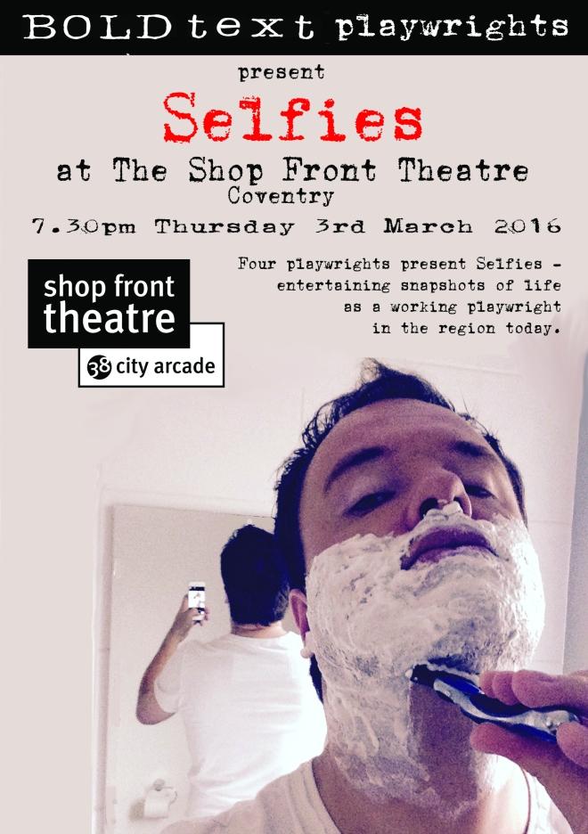 A5 front Selfies at ShopFront print flyer copy